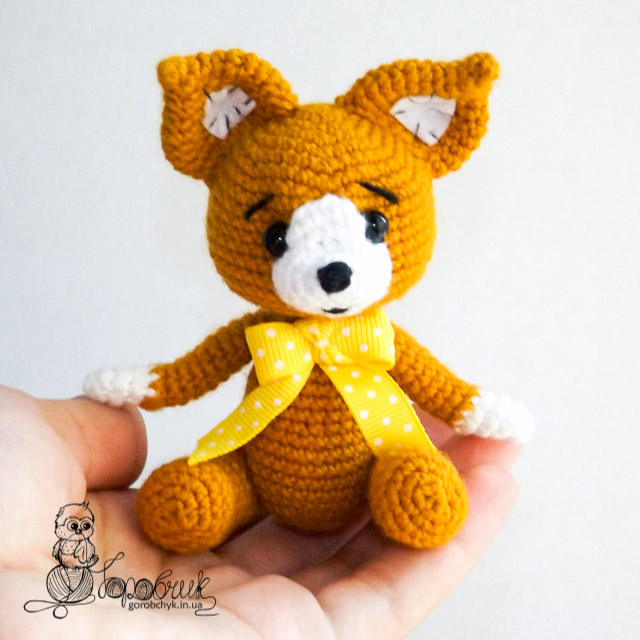 Сонный лисенок амигурми: схема вязания игрушки | amiguroom.
