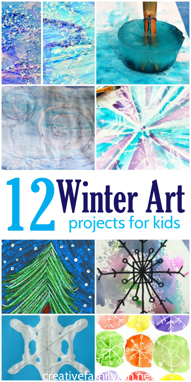 Creative family fun 12 of the best winter art projects for Arts and crafts for 9 12 year olds