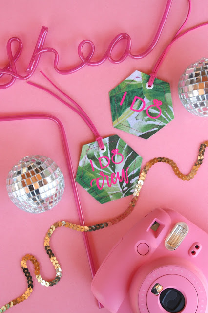 Create your own DIY Bachelorette Party Luggage Tags!