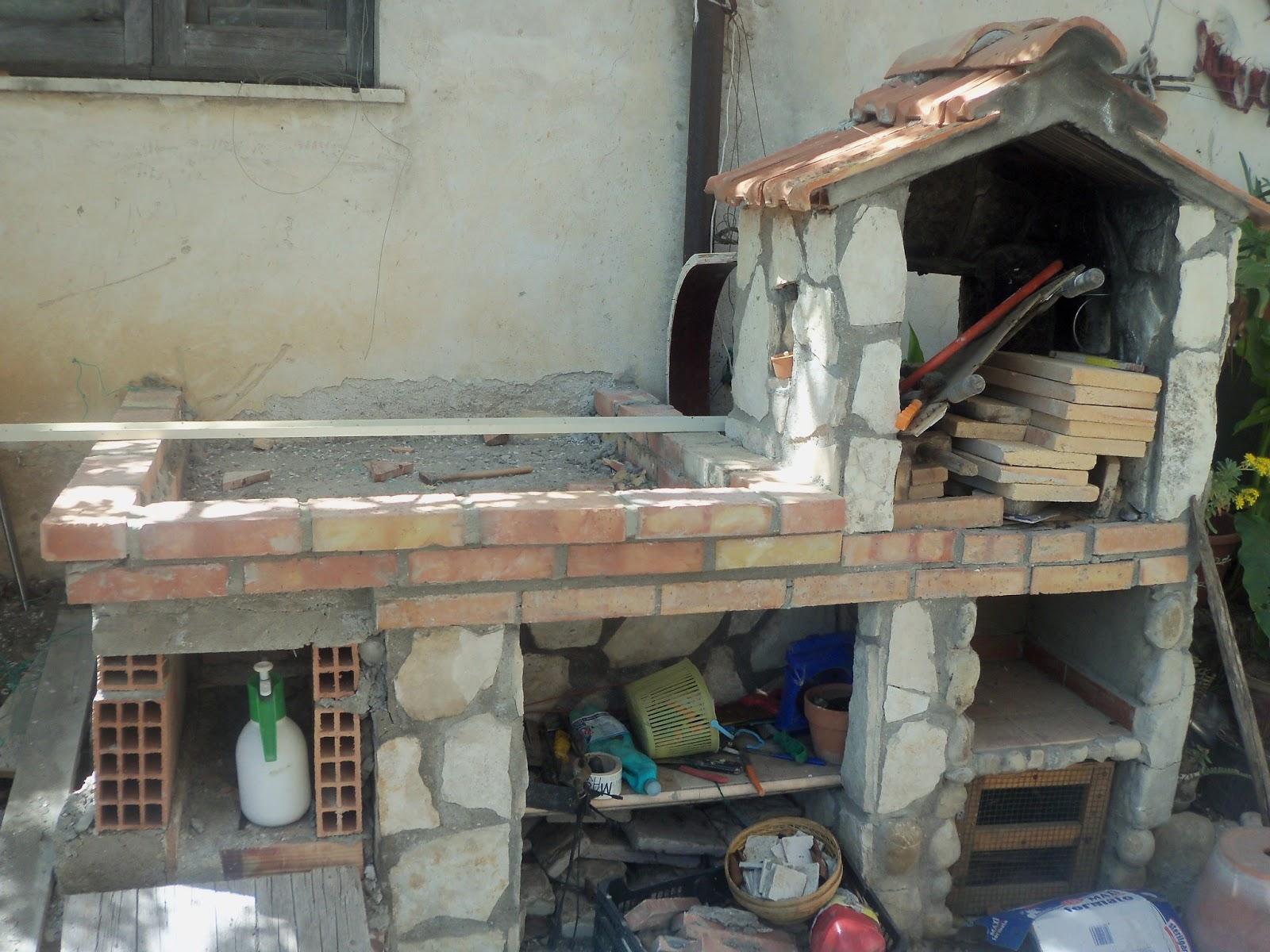 La cucina dello stregone costruzione fai da te per un for Barbecue fai da te in ferro