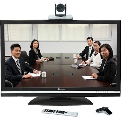 mô hình giải pháp hội nghị truyền hình Polycom đa điểm Group 500