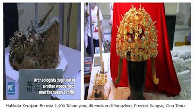 Mahkota Kerajaan Ratu Cina Berusia 1.400 tahun