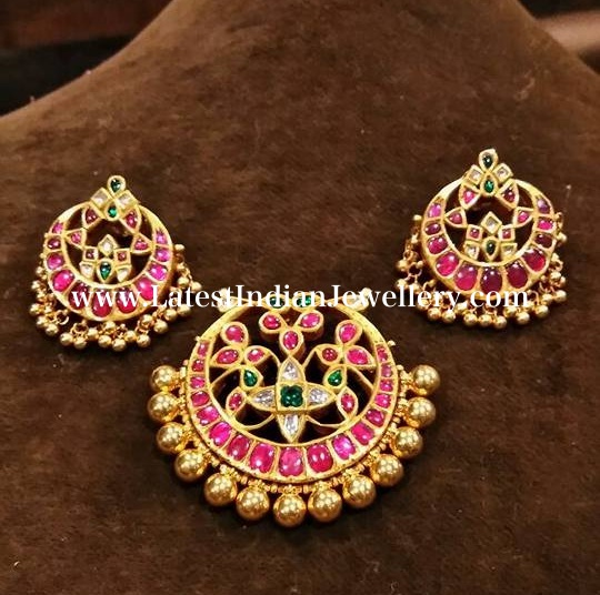Traditional Ruby Pendant Studs