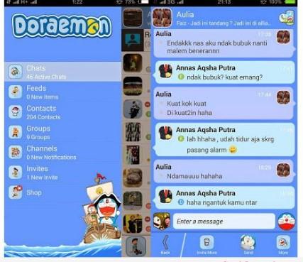 Download BBM Mod Doraemon Apk V3.0.1.25 Terbaru KEREN