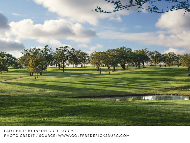 trees and water at Lady Bird Johnson Golf Course