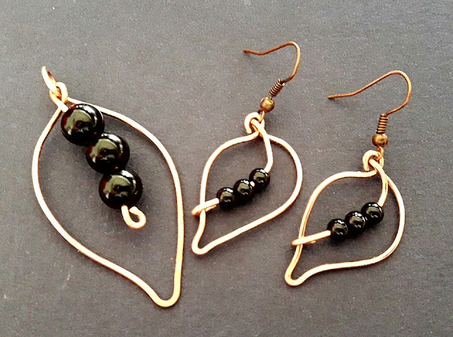 Copper Wire Ear Rings, Copper Pendants, Copper Jewelry