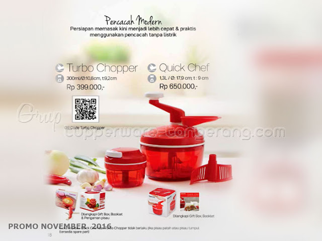 Turbo Chopper & Quick Chef Promo Tupperware November 2016