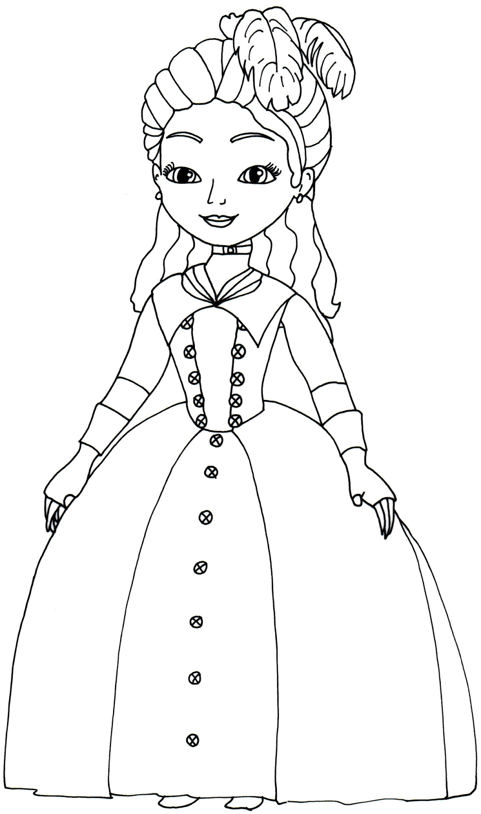 Sofia The First Coloring Pages Princess Clio Sofia The