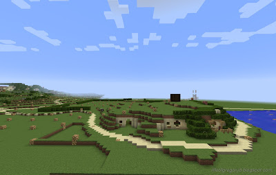 minecraft hobbiton build map poolside