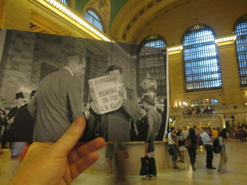 Escena de la película Con la muerte en los talones de Hitchcock en el interior de Grand Central Terminal en Nueva York