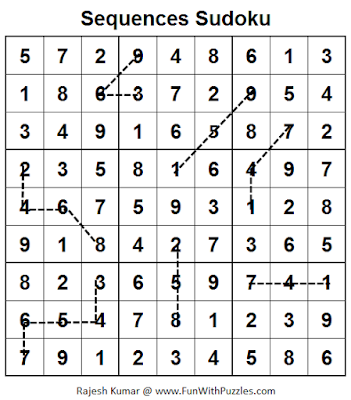 Sequences Sudoku (Fun With Sudoku #55) Puzzle Solution