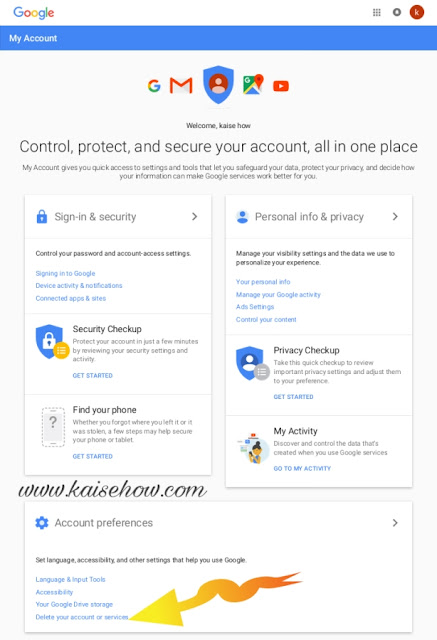 DELETE MY GMAIL ID,gmail account delete kaise kare