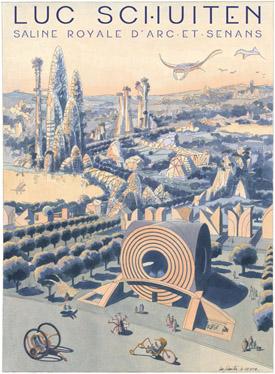Affiche de l'exposition Panoramas de 2100 de Luc Schuiten
