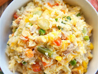 CHICKEN POT PIE RICE BAKE