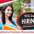 Tech Mahindra BE,B.Tech,BCA Freshers Recruitment On 26th and27th  Sep 2017.
