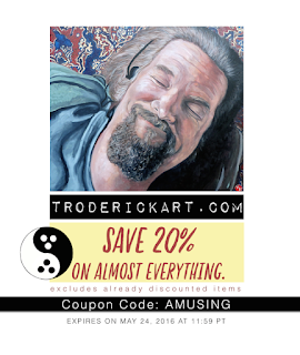 20% off coupon code amusing at troderickart.com
