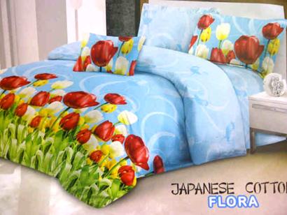 Sprei Katun Jepang Motif Bunga Tulip
