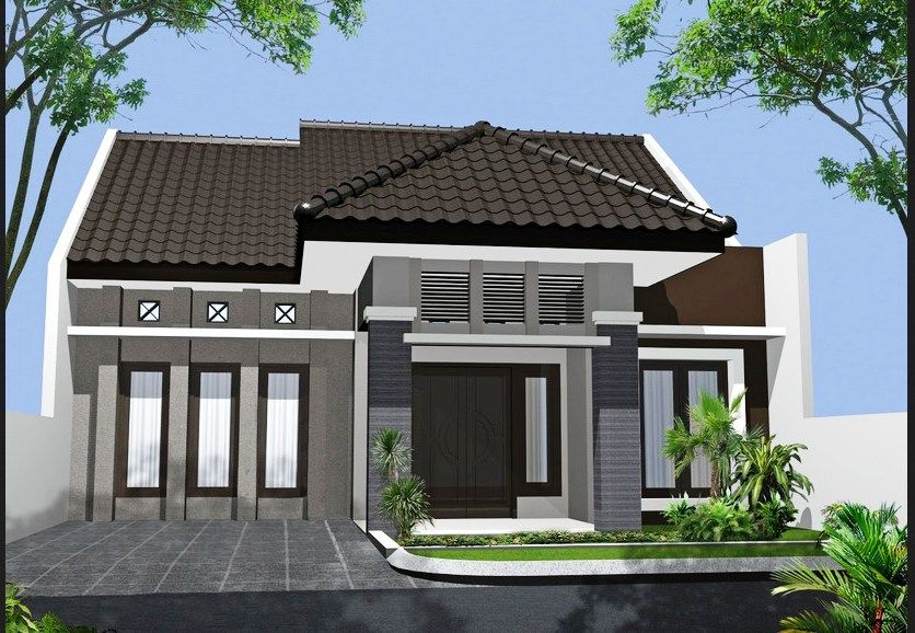Desain Rumah Minimalis 1 Lantai Type 45 Modern