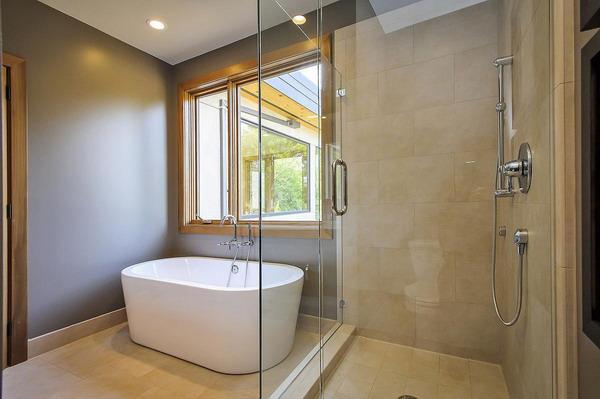 desain shower dan bathup rumah minimalis modern