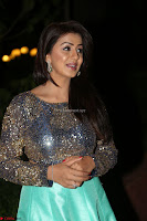 Nikki Galrani in Green Skirt  Top at Marakathamani music launch ~  Exclusive (109).JPG