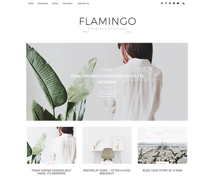 Flamingo Fashion Blogger Template