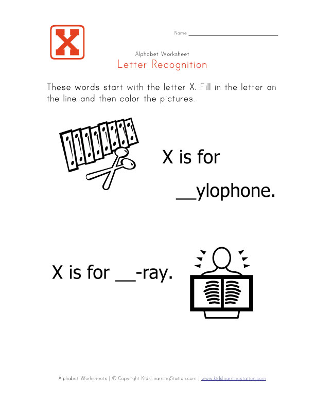 words beginning with the letter x phonics teachernick letter of alphabet phonics 25701 | Worksheet Letter X