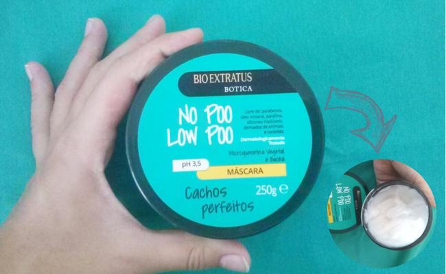Produtos low poo para cabelos cacheados mascara
