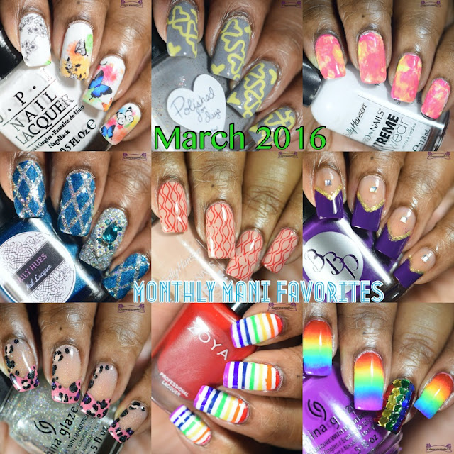 March 2016 Monthly Mani Favorites