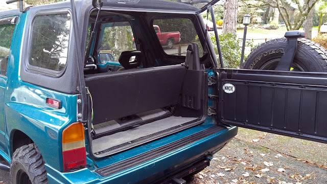 Teal Terror rear door