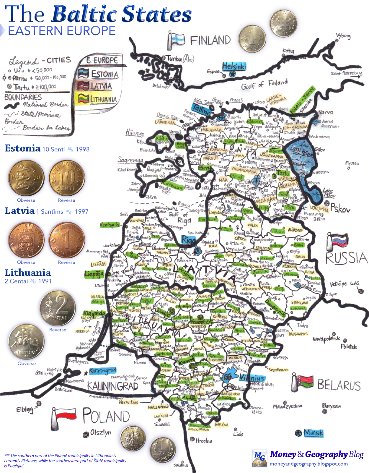 Detailed information about Lithuania, politics, geography and history