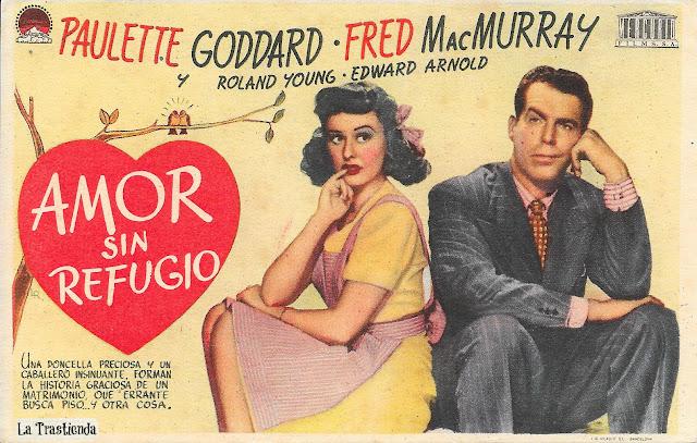 Programa de Cine - Amor sin Refugio - Paulette Goddard - Fred MacMurray