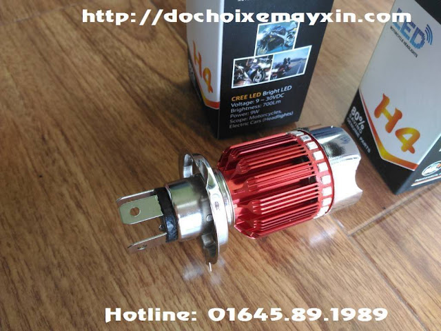 Hình ảnh đèn Led 7 màu cho xe máy model H4 2