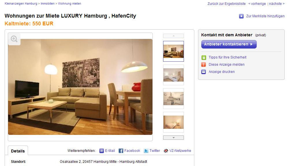 Ebay Kleinanzeigen Hamburg Wohnung Mieten