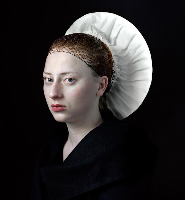 Hendrik Kerstens Emulates Flemish Paintings with Daughter