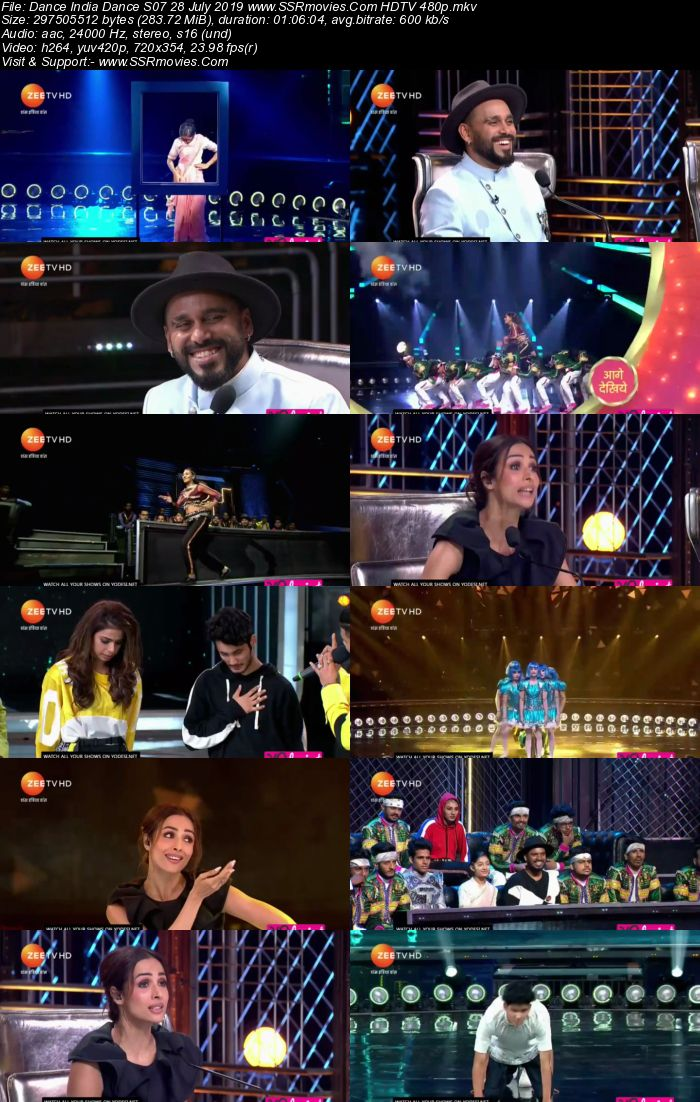 Dance India Dance S07 28 July 2019 HDTV 480p Full Show Download