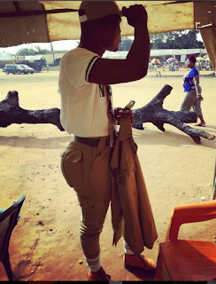 Nigerian Corper Causes A Stir Online With His Big Butt (Photo)