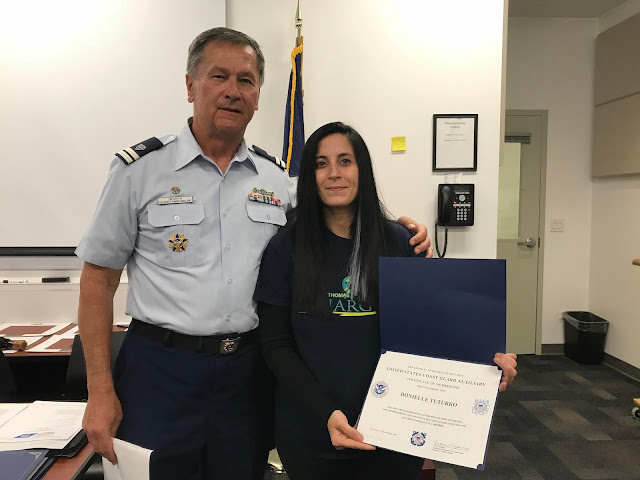 New member Donielle Turturro took her Oath of Membership at the May Business Meeting and posed for a picture with FC Bill Iwanyk. Congratulations and welcome aboard!