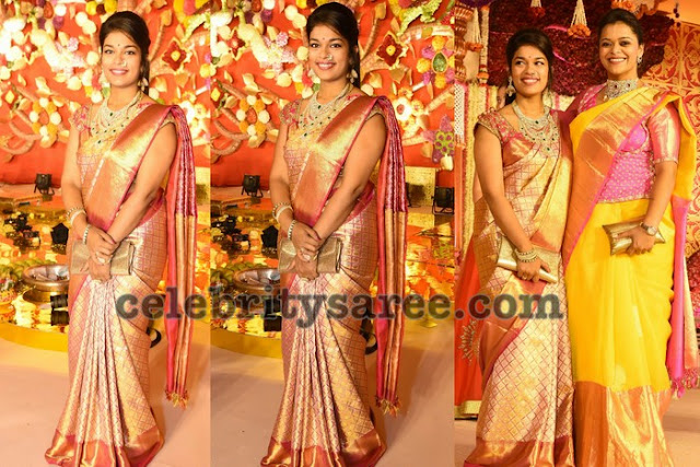 Chiranjeevi Daughter Srija Silk Saree
