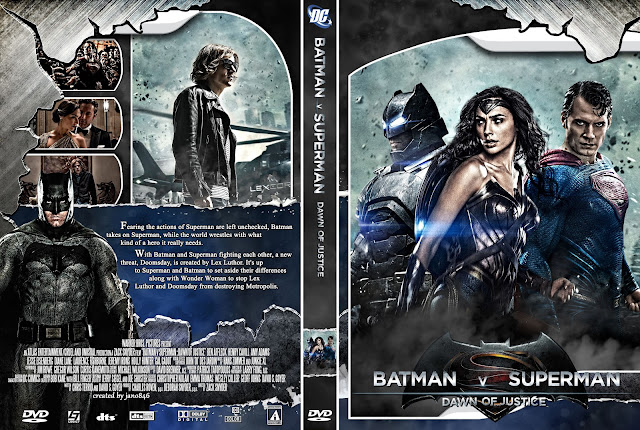 Capa DVD Batman V Superman Dawn Of Justice (Batman Vs Superman - A Origem da Justiça)