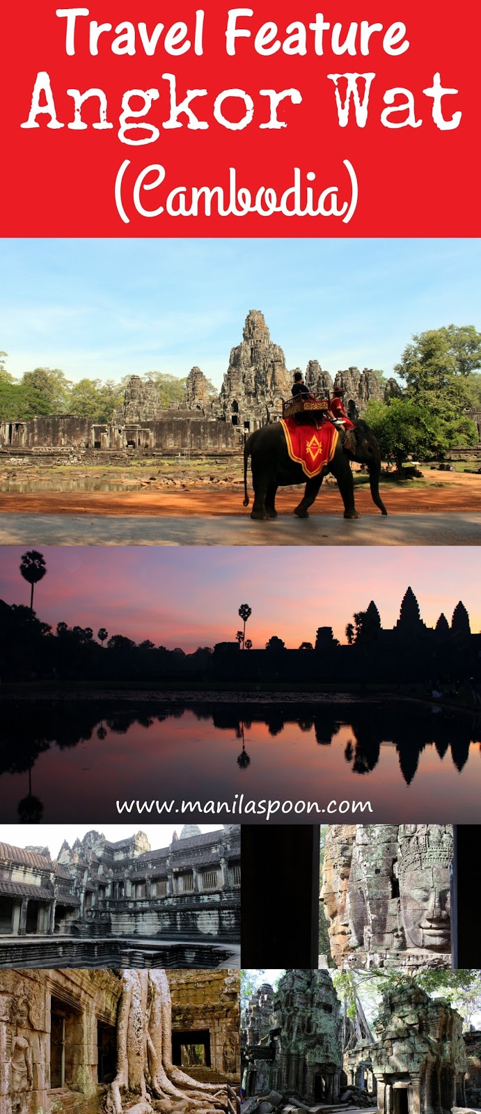 Listed as a World Heritage Site the Angkor Complex in Cambodia is on top of the list of must-see destinations in the world! It is unique and breathtaking and totally worth visiting!
