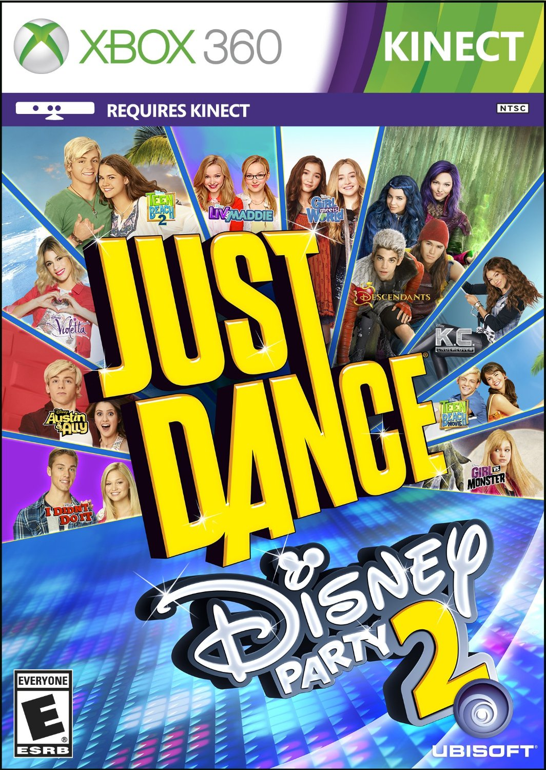 Just Dance Disney Party 2 ESPAÑOL XBOX 360 Cover Caratula