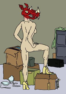 mujer monstruo ilustración