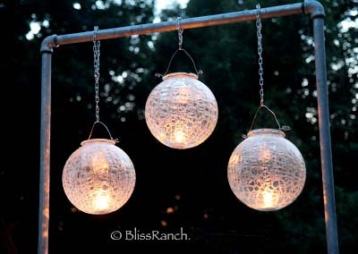 Upcycled Glass Light Globes, Bliss-Ranch.com