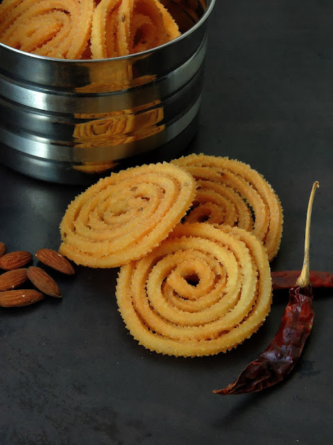 Almond Spicy Murukku, Badam Murukku