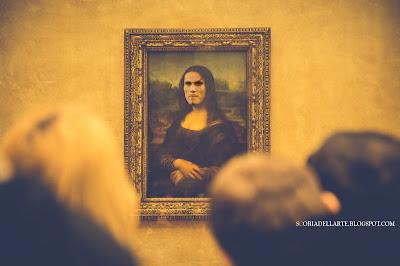 fotomontaggi Mona Lisa-ho visto Cavani-Edison Cavani-Leonardo da Vinci