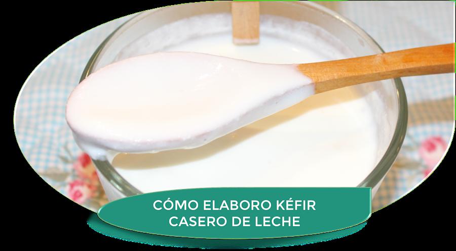 CÓMO ELABORO KÉFIR CASERO DE LECHE {PASO A PASO}