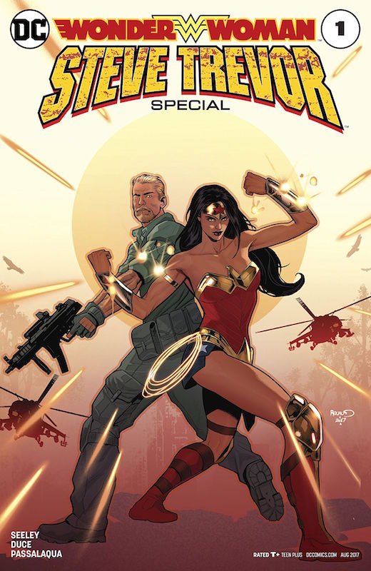 Wonder Woman: Steve Trevor #1 Story: Tim Seeley Art: Christian Duce Colors: Allen Passalaqua Letters: Josh Reed Covers: Paul Renaud, Yanick Paquette, Nathan Fairbairn  Wonder Woman created by William Moulton Marston, H. G. Peter, Elizabeth Holloway Marston, Olive Byrne.