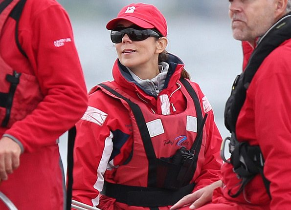 "Crown Princess Mary of Denmark participated in the ""Baltic Sea Challenge"", a sailing regatta for 12 meter boats in Skovshoved"