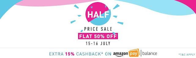 Amazon Half Price Sale