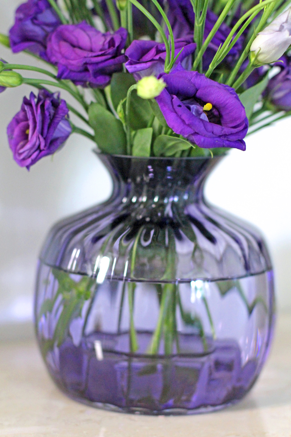Dartington handmade crystal purple vase - UK style & interiors blog